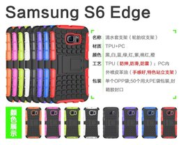 Wholesale For Galaxy S6 Edge G9250 S6 Spider Man Hybrid Shockproof Hard Holder Stand Rubber Tires Skin For LG G4 HTC M9 Back Cover Phone Case Cases