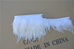 Free shipping 10 yards White color Hackle feather trimming fringe Hackle feather trim for Crafts Costume Sewing