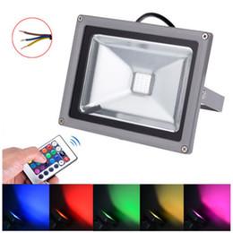 RGB LED Flood Light 10W 20W 30W 50W Landscape Lamp Waterproof IP65 Remote Control Led RGB Floodlights RGB Floodlighting Outdoor lighitng