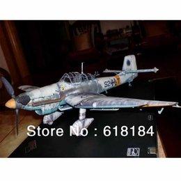 Wholesale Free shipment Paper Model airplane cm Wingspan World War II German Ju D Stuka Dive Bomber military craft d puzzles