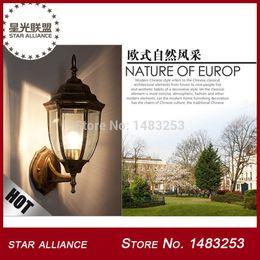 Wholesale Aluminium Die casting Porch Light Brass Black Outdoor Wall lamp on Sale Cottage Style Garden Light