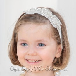 Baby Girl Bling Rhinestone Headband Baby Headband Luxe Headband Baptism Headband Princess Headband Queenbaby 12pcs lot