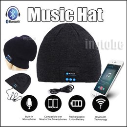 Wholesale 2016 Bluetooth Music Hat Soft Warm Beanie Cap with Stereo Headphone Headset Speaker Wireless Microphone for iPhone6s s plus forS6 note5