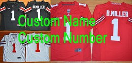 Wholesale Factory Outlet Custom Ohio State Football Jersey Personalized Ohio State Buckeyes Jersey College Football Jersey For Men Women Kids