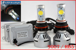 2017 double t5 DHL 4 jeux 9007 HB5 72W 7000LM LED CREE Auto-phares Hi / Low double 4S faisceau UPGRADED MTG2 CHIP Xenon Blanc modifiable conduite antibrouillard abordable double t5