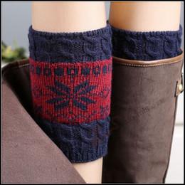 Prettybaby woman knitting wool boots socks girls snowflake color-blocking leg warmer leggings short Crochet Hosiery Pt0046#