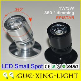 Wholesale 10pcs W W Mini Spotlight Surface Mounted Showroom Cabinet Lights led fresnel Lamps V V black Aluminum shape years Warranty