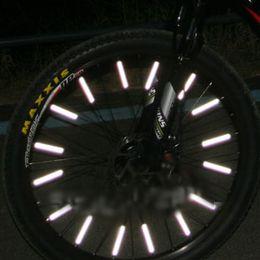 Wholesale Bicycle bike Wheel Spoke Reflector Reflective Mount Clip Tube Warning Strip Brand New