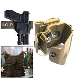 Wholesale Lose money sale DLP Tactical Glock Clip MOLLE Belt Holster for Glock BK TAN