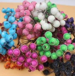 Promotion côté de l'artisanat 200pcs Double Side Fruit Head étamines Pistil Garland Floral Wreath bricolage