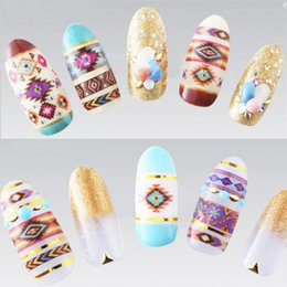 Wholesale 1 Sheet Tribal Patterns Water Decals Transfer Stickers Nail Art Stickers