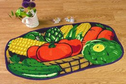 Wholesale Fruit carpets rugs The new rainbow carpet mats doormat fruit shape creative kitchen entrance waterproof bath carpets high quality