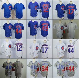 Wholesale Chicago Cubs Jersey Kids Kris Bryant Jersey Jake Arrieta White Blue Stitched Youth Baseball Shirt Anthony Rizzo Jersey