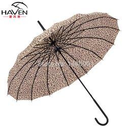 Wholesale Haven princess long umbrella parasol Leopard pagoda creative umbrella