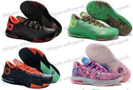 Kd chaussures de vente mens à vendre-Chaussures de basket-bateau libre des hommes Air KD 6 VI sport Chaussures Hommes Sneakers de haute qualité d'athlétisme Chaussures Soldes Hot Bottes de ballon heurtant Crampons