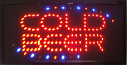 hot sale new arriving custom led cold beer signs of drinking bar open shop semi-outdoor size 48cm*25cm
