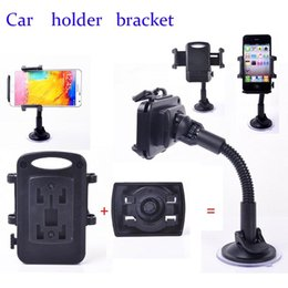 Wholesale-Black Windshield Windscreen Car Mount Suction Holder Stand for Optimus G2   G3   G3 mini   G4 Adjustable Flexible Stand