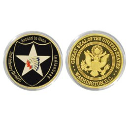 Wholesale U S Department Of The ARMY Challenge Coin Commemorative Custom Coin Gold Plated Coin Military Fancy Challenge Coin