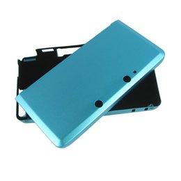 Wholesale-50pcs Blue Aluminum Box for Nintendo 3DS