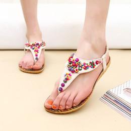 Wholesale Hot Sales Women Ladies Flat Toe Post Shoes Womens Flip Flops Boho Sandals Summer Beach ex57