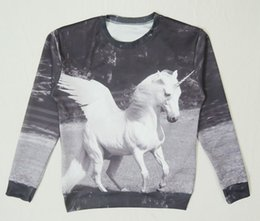 Wholesale Hot animate unicorn print D cartoon sweatshirt for men women anime unicornio tiger galaxy hoodie pullovers