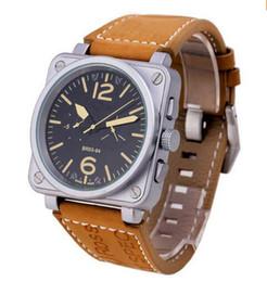 Promotion cru mens watch automatique Famous Brand Vintage bracelet en cuir brun Homme Argent inoxydable Luxe Mens mécanique Analag Montre Automatique pour Hommes modernes à des prix Montre