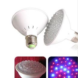 Led grow bleu ampoule en Ligne-Livraison gratuite gros-Rouge Bleu 38 Ampoule LED Energy Saving végétaux de culture hydroponique Lampe New NI5L