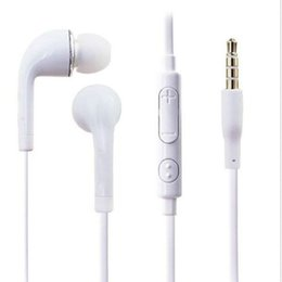 Wholesale Cable Hands Free - J5 Samsung In-Ear Handsfree Earphone Headphone W  Flat Cable Volume Control & MIC Hands Free for Samsung Galaxy S3 S4 Note LG SONY