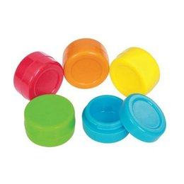 9ml 39*20mm Wax Dry Herb Jars Dab Round Shape Silicone Container for Dry Herb wax vaporizer