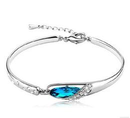 Top Grade Silver Bracelets Bangle Hot Sale Fashion Romantic Cuff Bangles Bracelet for Women Girl Party Fashion Jewelry Wholesale Free 0064WH
