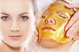 Wholesale Crystal Bio Mask - 2015 HOT Gold Bio-Collagen Facial Mask Face Mask Crystal Gold Powder Moisturizing Anti-aging Collagen Facial Mask Free DHL FedEx