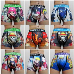 Wholesale 2016 High quality Animated cartoon wide brimmed men s boxer underwear underwear men s boxer shorts