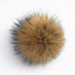 Wholesale AA Copy Raccoon fur Fox fur pom poms ball Soft Fur Ball cm fur hat winter hats for shoes bags fur cap accessories