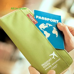 Wholesale Passport Wallets Card Holders Travelling Going Abroad Wallet Cards Coin Purse Men And Women Long Style
