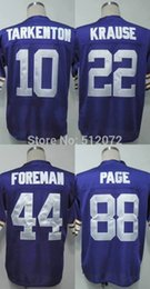 Wholesale Factory Outlet Men s Authentic Throwback Fran Tarkenton Paul Krause Chuck Foreman Alan Page Football Jersey