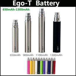 Wholesale Multi color EGO T E Cigarette Battery mAh mAh mAh mAh E Cigarette Battery for EGO T with the TQW service in stock