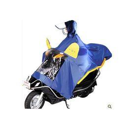 Wholesale-Motocross Automatic hat brim motorcycle poncho electric bicycle raincoat single double