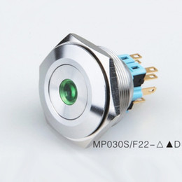 Wholesale 30mm Metal Anti vandal Waterproof IP67 v v Led illuminated Push Button Switch momentary Latching on off Pushbutton for Car Doorbell