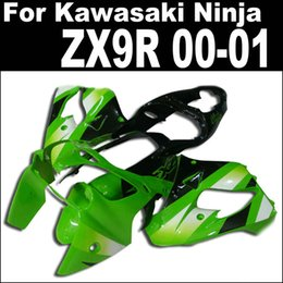 Customize fairing kit for Kawasaki ZX-9R 2000 2001 Ninja ZX9R 00 01 ZX 9R green black plastic fairings set YY24