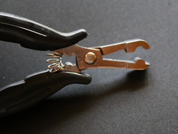 super quality hair plier -Heat Fusion Glue Keratin Bonding   Micro Rings Removal Pliers for Hair Extensions