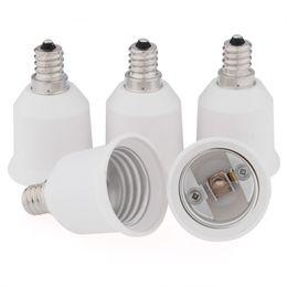 Wholesale 5 Pack E12 to E26 E27 Adapter Converts Chandelier Socket E12 to Medium Socket E26 E27 LED Light Bulb Lamp Adapter Converter
