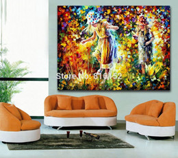Palette Knife Oil Painting Figure Picture Famous Character Modren Mural Art for Home Living Room Wall Decoration