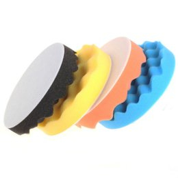 Wholesale 6inch Waffle Buff Polishing Pad kit For Car Polisher