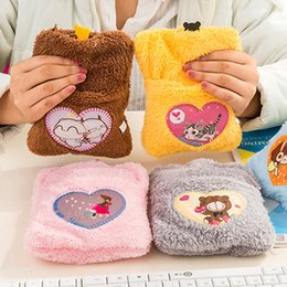 Wholesale Pieces Per New Mini Heater Cartoon Hand Warmers Warm Water Bag Hot Hands Hot water Bottle Plush Handwamer Pocket Heater