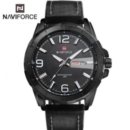 Wholesale 2016 Promotion Limited Edition Men s Black Luminous Dial Waterproof Sport Watches Men s Casual Leather Belt Tide Male Form New Military
