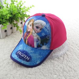 Wholesale 2016 New fashion girl baseball hat frozen elsa and anna children baseball hat girl cartoon cotton cap two color can choose S