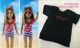 Wholesale 2016 New Style Popular Beauty American Girl Doll Summer Swimming Clothes Black T Shirt Fits For quot American Girl Doll Alexander For girl