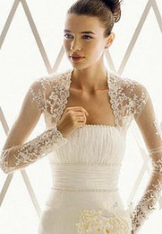 Hot Sale!!! 2019 New Fashion Sheer Long Sleeve Lace Bridal Jackets for Wedding Ladies Jackets Bridal Accessories