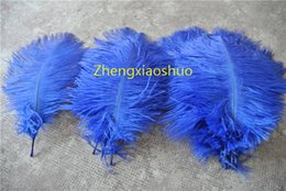 wholesale 100pcs 10-12 inch Royal Blue Ostrich Feather FOR Wedding Table Centerpieces wedding centerpiece decor party decor