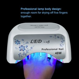 Wholesale Unique design UV LED CCFL nail lamp w for nail Gel dryer curing polish tool Nail Art ultraviolet lights stock in US DE